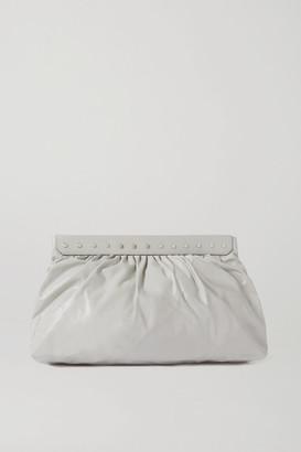 Isabel Marant Luzel Large Studded Leather Clutch - Off-white