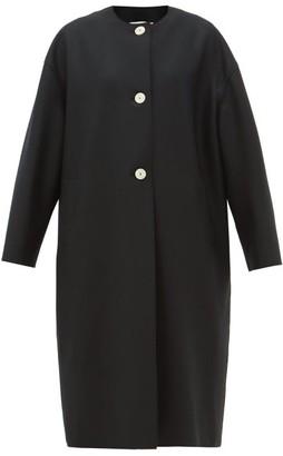 Harris Wharf London Round-neck Felted Wool Coat - Womens - Black