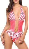Avidlove Women's Sexy One Piece Swimsuit Cover Ups Polka Dot Padded Swimwear
