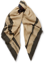 Balenciaga - Printed Wool And Cashmere-blend Scarf
