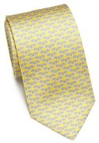 Salvatore Ferragamo Seal Silk Tie