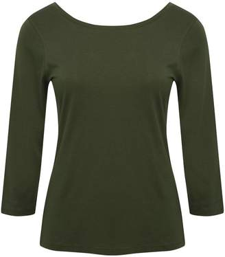 M&Co Plain scoop back top