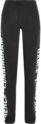 Acne Studios Fella Printed French Cotton-terry Track Pants