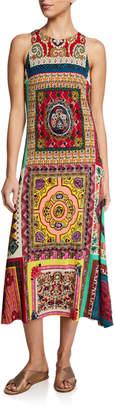 Etro Floral Print Mosaic Patchwork Dress