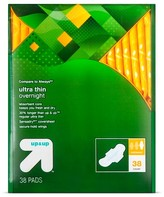 up & up Ultra Thin Regular Overnight Pads with Wings 38ct