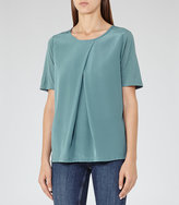Reiss Larsen Silk-Front T-Shirt