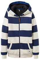Joules Little Joule Boys' Guthrie Stripe Hoodie, Navy