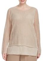 Eileen Fisher Plus Open Knit Sweater