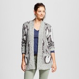 Women's Patterned Cardigan Gray and White Pattern - Mossimo Supply Co.