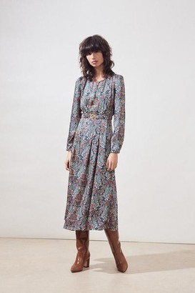 Suncoo Carrine Floral Print Dress - Size 1 -UK8