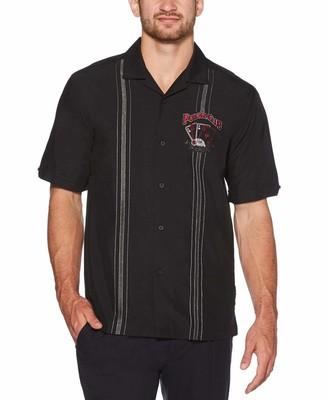 Cubavera Poker Embroidered Panel Shirt
