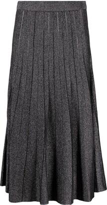 MICHAEL Michael Kors High-Waisted Metallic Midi Skirt