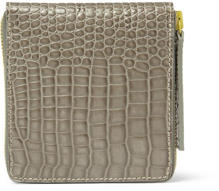 Raf Simons Crocodile-Embossed Leather Billfold Wallet