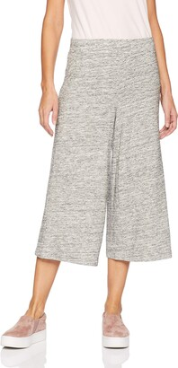 Daily Ritual Amazon Brand Women's Supersoft Terry Culotte Pant Heather Space Dye Small