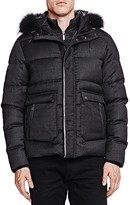 The Kooples New Flannel and Leather Puffer Coat