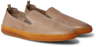 Officine Creative Key Full-Grain Leather Slip-On Sneakers