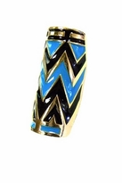 House Of Harlow Enameled Tribal Wrap Ring in Turquoise
