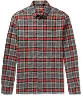 Haider Ackermann Checked Cotton-Blend Flannel Shirt