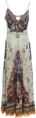 Camilla Crystal-embellished Knotted Silk Crepe De Chine Maxi Dress