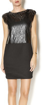 House Of Harlow Faux Leather Perforated Dress