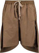 Rick Owens Asymmetric cotton shorts