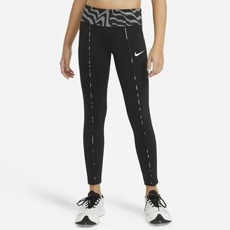Nike Big Kids' (Girls') Printed Leggings One