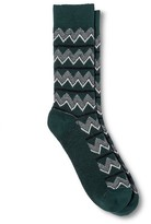 Mossimo Men's Zigzag Hiker Socks Dark Green One Size