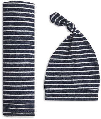 Aden Anais aden + anais Snuggle Knit Swaddle Gift Set - Navy Stripe