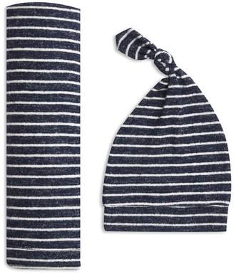 Aden Anais Snuggle Knit Swaddle Gift Set - Navy Stripe