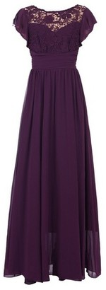 Dorothy Perkins Womens Jolie Moi Dark Purple Crochet Maxi Dress, Dark Purple