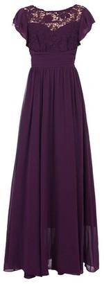 Dorothy Perkins Womens Jolie Moi Dark Purple Crochet Maxi Dress, Dark Purple
