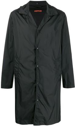 Aspesi Hooded Classic Collar Rain Jacket