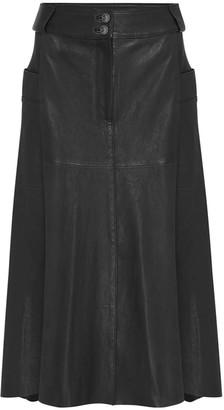 West 14th Hudson High-Rise Skirt Black Leather