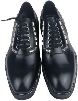 Cesare Paciotti Black Leather Lace ups