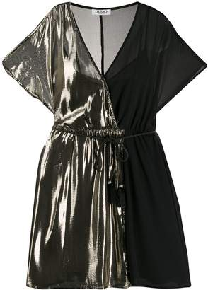 Liu Jo two-tone wrap-around mini dress