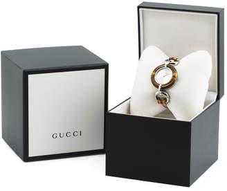 Women#39;s Swiss Made Bamboo Bezel Link Bracelet Watch