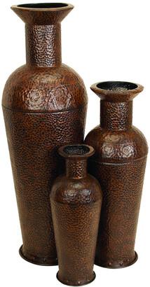 Uma Enterprises Set Of Three Metal Vases