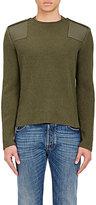 Valentino Men's Virgin Wool-Cashmere Military Sweater-DARK GREEN