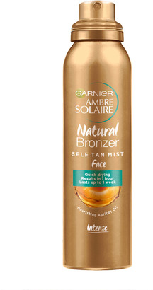 Garnier Ambre Solaire Natural Bronzer Quick Drying Dark Self Tan Face Mist 75Ml