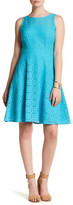 Nine West Medallion Lace Fit & Flare Dress
