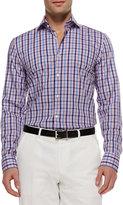 HUGO BOSS Jason Multi-Check Button-Down Shirt, Pink