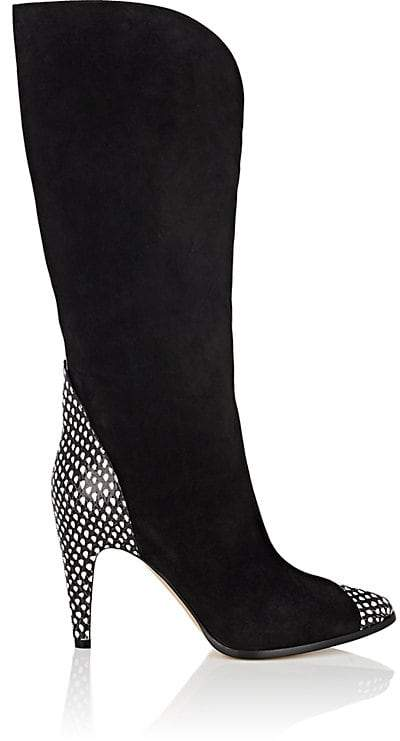 Givenchy Women's Suede & Stamped Leather Knee Boots