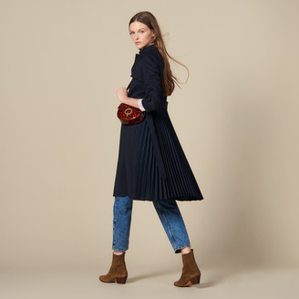 Sandro Trench coat with pleated inset