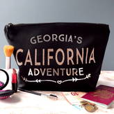 The Alphabet Gift Shop Personalised Rose Gold Adventure Toiletry Bag