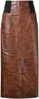 Kitx - maxi leather skirt - women - Leather - 10