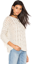 Autumn Cashmere Fringe Crew Neck Sweater