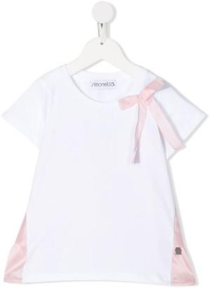 Simonetta short sleeve bow detail T-shirt