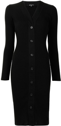 James Perse Ribbed Buttoned Dress