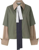 J.W.Anderson oversized layered look striped shirt