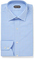 Tom Ford Blue Slim-Fit Gingham Cotton Shirt